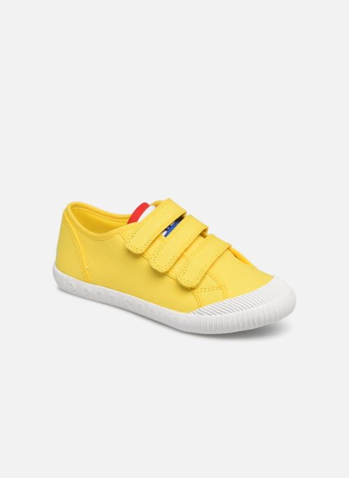 Trainers Le Coq Sportif Nationale PS Yellow detailed view/ Pair view