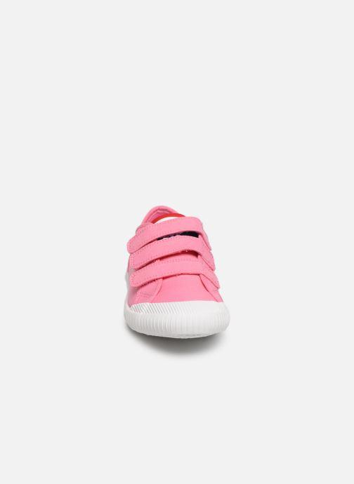 Baskets Le Coq Sportif Nationale PS Rose vue portées chaussures