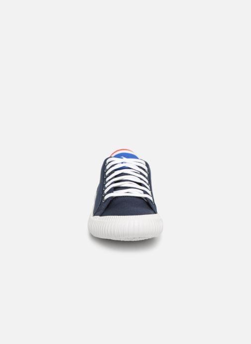Baskets Le Coq Sportif Nationale GS Bleu vue portées chaussures
