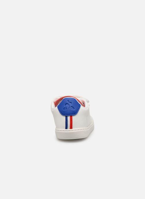 Baskets Le Coq Sportif Courtset INF Blanc vue droite