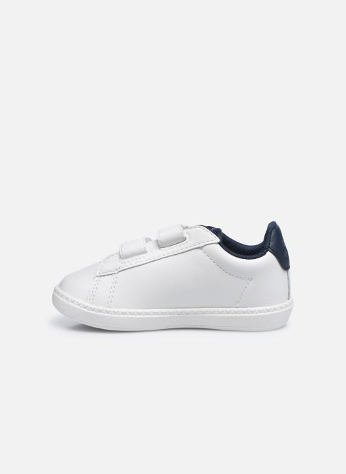 Sneakers Le Coq Sportif Courtset INF Bianco immagine frontale