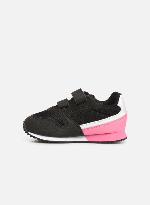 Sneaker Le Coq Sportif Alpha II INF schwarz ansicht von vorne