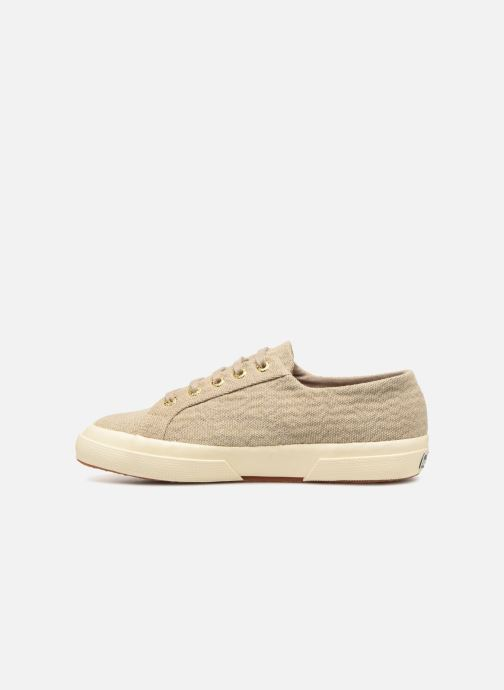 Baskets Superga Tyedyelure-2750 Or et bronze vue face