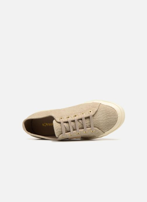 Baskets Superga Tyedyelure-2750 Or et bronze vue gauche