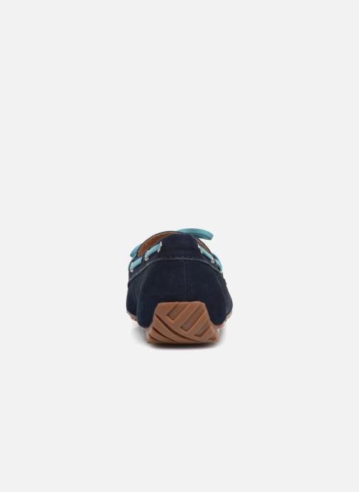 Schnürschuhe Sebago Harper Tie Nbk blau ansicht von rechts