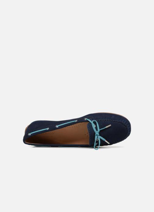 Schnürschuhe Sebago Harper Tie Nbk blau ansicht von links
