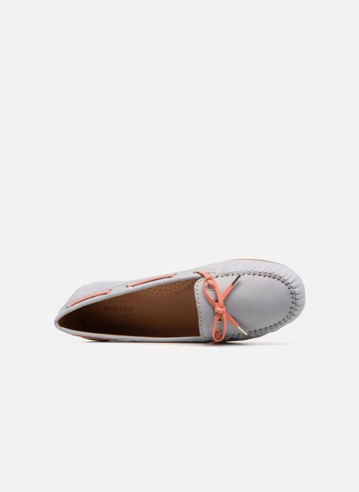 Zapatos con cordones Sebago Harper Tie Nbk Gris vista lateral izquierda