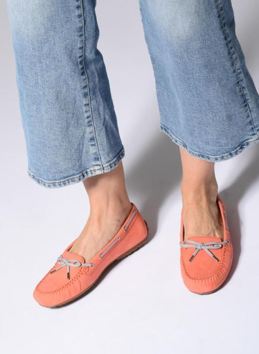 Chaussures à lacets Sebago Harper Tie Nbk Orange vue bas / vue portée sac
