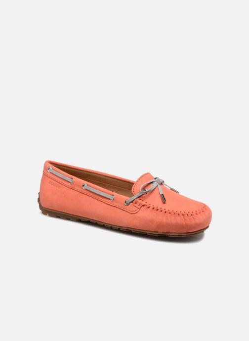 Veterschoenen Sebago Harper Tie Nbk Oranje detail