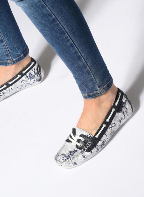 Chaussures à lacets Sebago Bala Bleu vue bas / vue portée sac