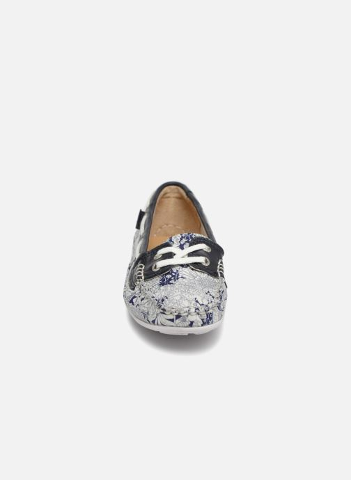 Zapatos con cordones Sebago Bala Azul vista del modelo