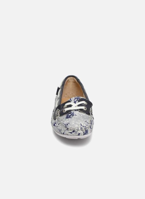 Schnürschuhe Sebago Bala blau schuhe getragen