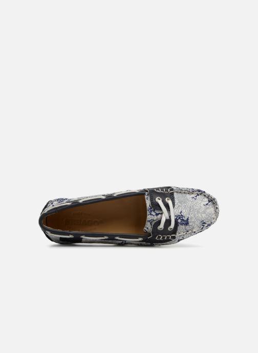 Chaussures à lacets Sebago Bala Bleu vue gauche