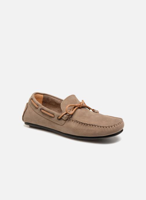Sebago Tirso Tie FGL chaussures bateau pour hommes en cuir brown