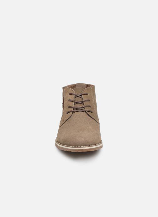 Boots en enkellaarsjes I Love Shoes KERONI 2 Leather Beige model