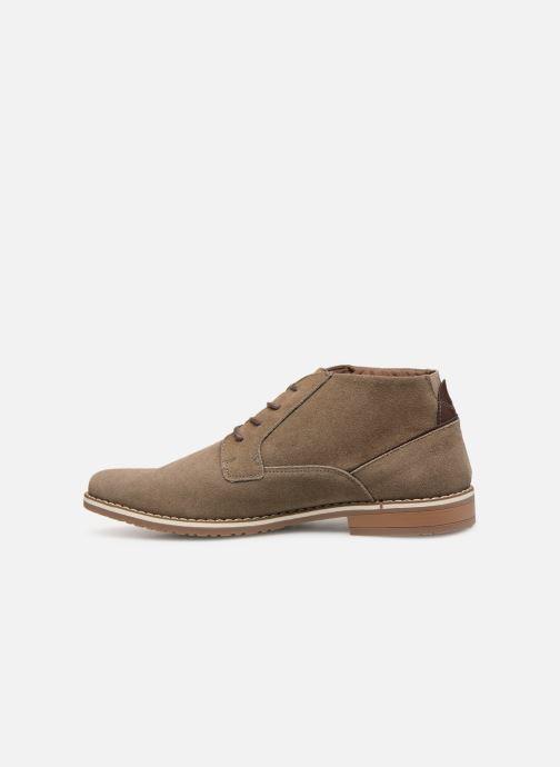 Boots en enkellaarsjes I Love Shoes KERONI 2 Leather Beige voorkant