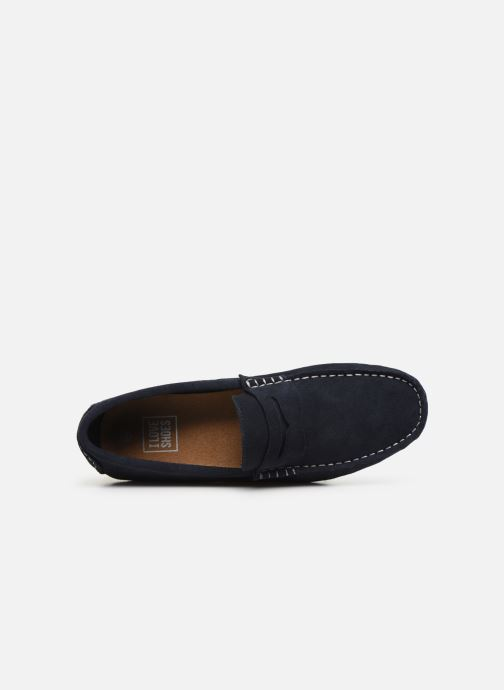 Mocasines I Love Shoes KEMOKI Leather Azul vista lateral izquierda