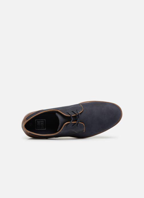 Chaussures à lacets I Love Shoes KENIHAL Bleu vue gauche