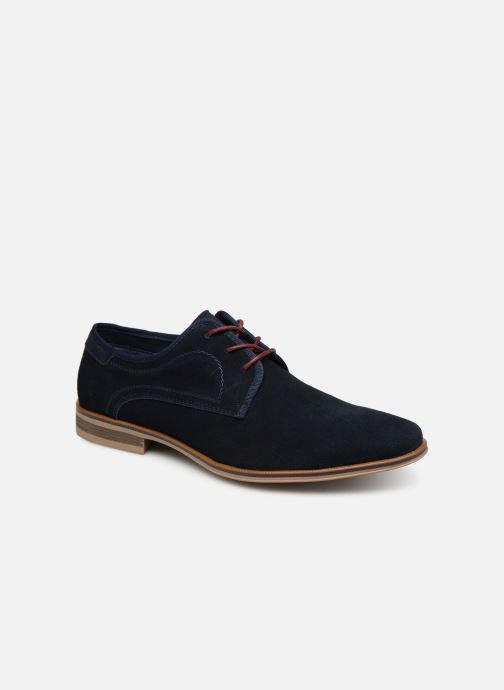 Lace-up shoes I Love Shoes KELINDO Leather Blue detailed view/ Pair view