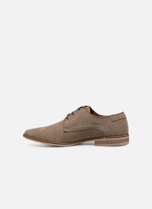Snøresko I Love Shoes KELINDO Leather Beige se forfra