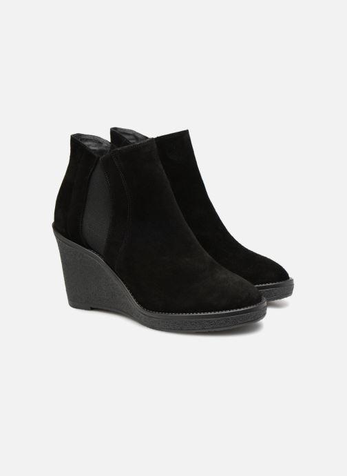 Bottines et boots L.K. Bennett Josephine Noir vue 3/4