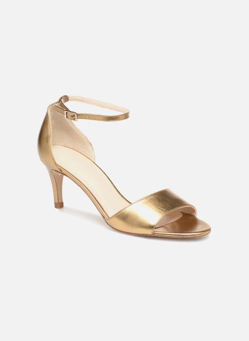 Sandaler L.K. Bennett Omya Guld og bronze detaljeret billede af skoene