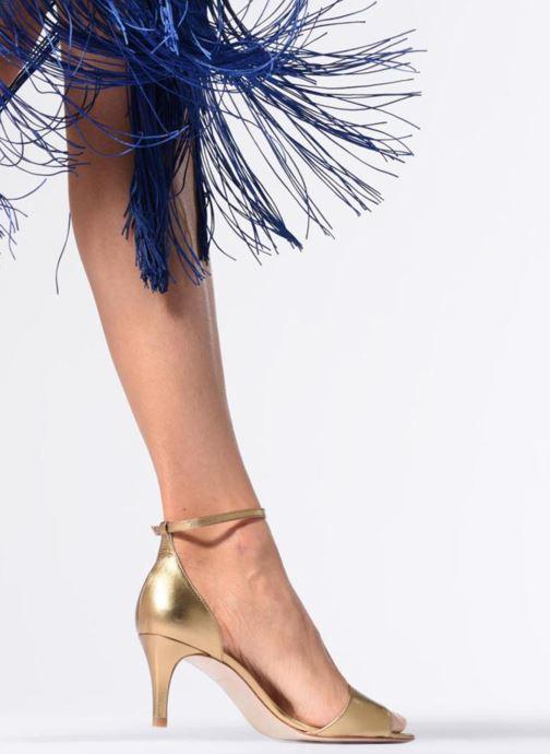 Sandales et nu-pieds L.K. Bennett Omya Bordeaux vue bas / vue portée sac