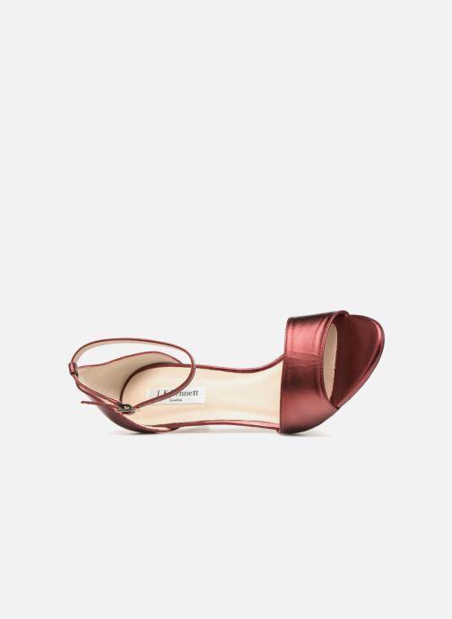 Sandales et nu-pieds L.K. Bennett Omya Bordeaux vue gauche