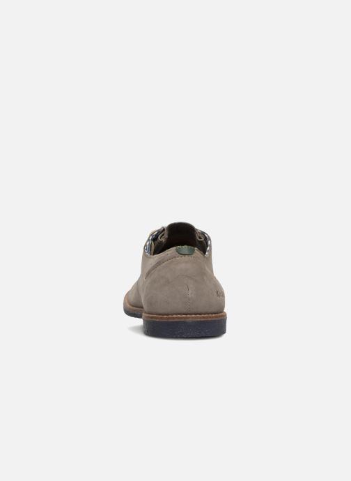 Chaussures à lacets Kickers Backus Gris vue droite