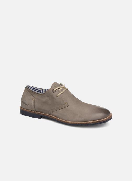 Chaussures à lacets Kickers Backus Gris vue détail/paire