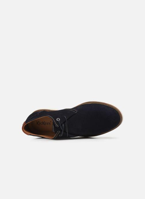 Zapatos con cordones Kickers Backus Gris vista lateral izquierda
