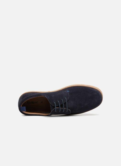 Chaussures à lacets Kickers Cordou M Bleu vue gauche