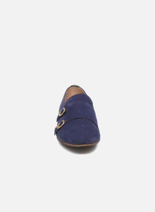 Mocassins Kickers Garbo Bleu vue portées chaussures