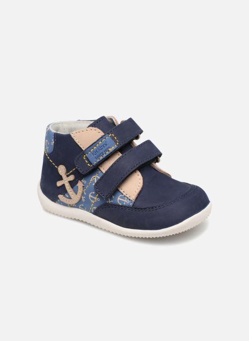 Bottines et boots Kickers Bigoukro Bleu vue détail/paire