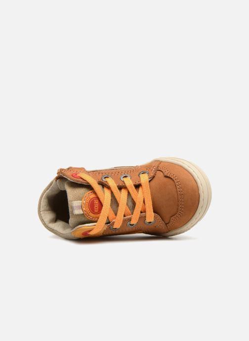 Sneakers Kickers Jargon BB Marrone immagine sinistra