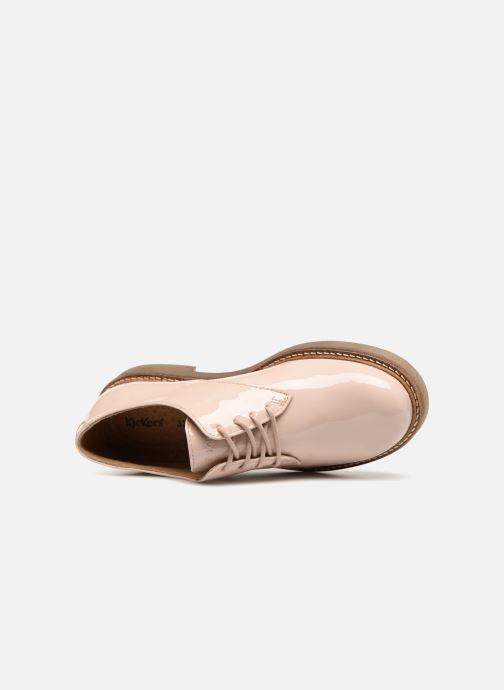 Chaussures à lacets Kickers Oxfork K Beige vue gauche