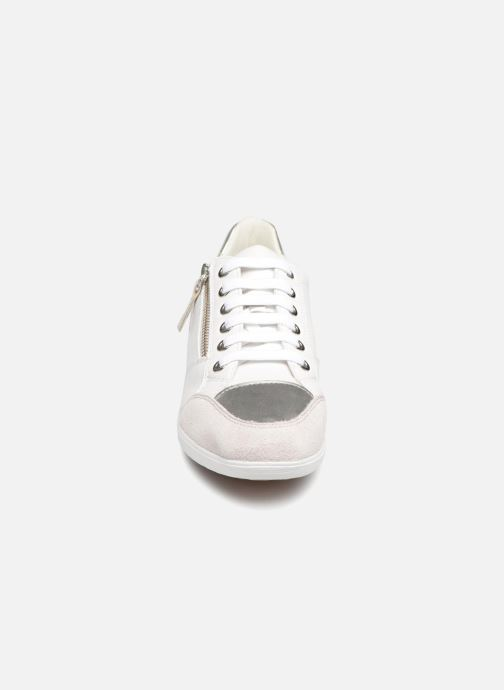 Baskets Geox D MYRIA D8468B Blanc vue portées chaussures