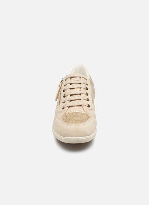 Baskets Geox D MYRIA D8468B Or et bronze vue portées chaussures