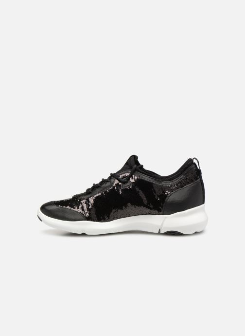 Trainers Geox D NEBULA A D92BHA Black front view
