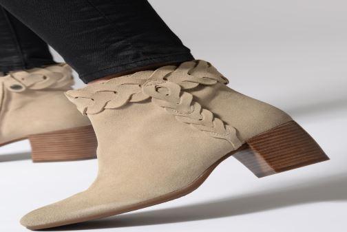 Stiefeletten & Boots Geox D NEW LUCINDA A D92AMA braun ansicht von unten / tasche getragen