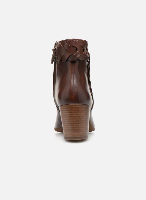 Boots en enkellaarsjes Geox D NEW LUCINDA A D92AMA Bruin rechts