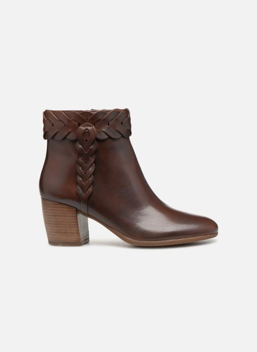 Ankle boots Geox D NEW LUCINDA A D92AMA Brown back view
