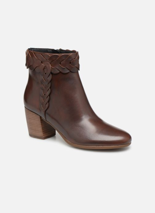 Ankle boots Geox D NEW LUCINDA A D92AMA Brown detailed view/ Pair view
