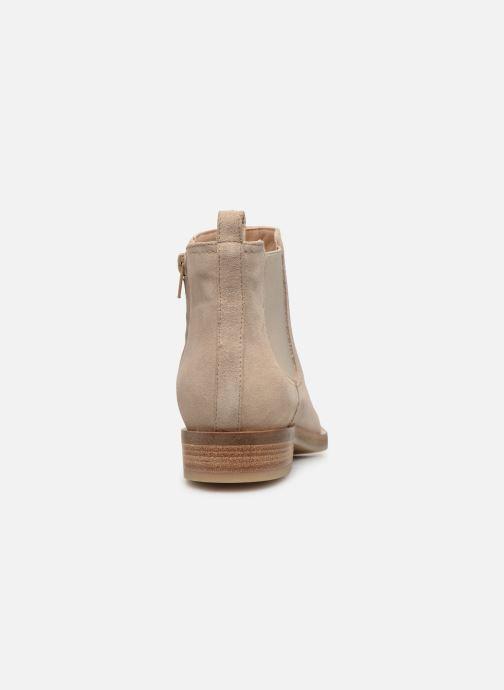 Bottines et boots Geox D BROGUE A D922UA Beige vue droite
