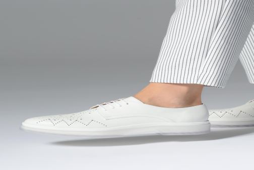 Lace-up shoes Geox D MYLUSE C D929WC White view from underneath / model view