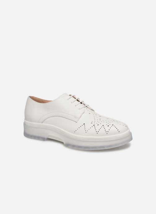 Lace-up shoes Geox D MYLUSE C D929WC White detailed view/ Pair view