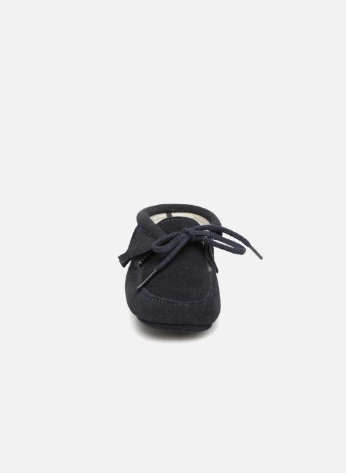 Chaussons Bout'Chou Chaussures à franges Bleu vue portées chaussures