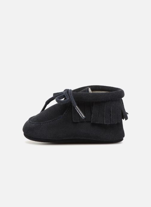 Pantoffels Bout'Chou Chaussures à franges Blauw voorkant