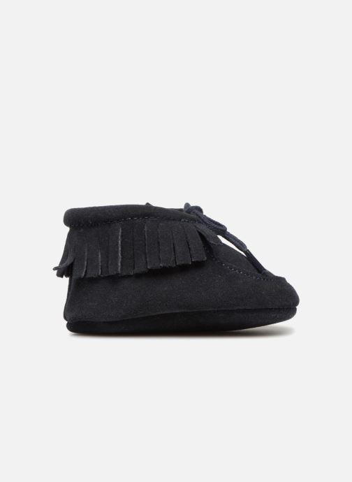Chaussons Bout'Chou Chaussures à franges Bleu vue derrière