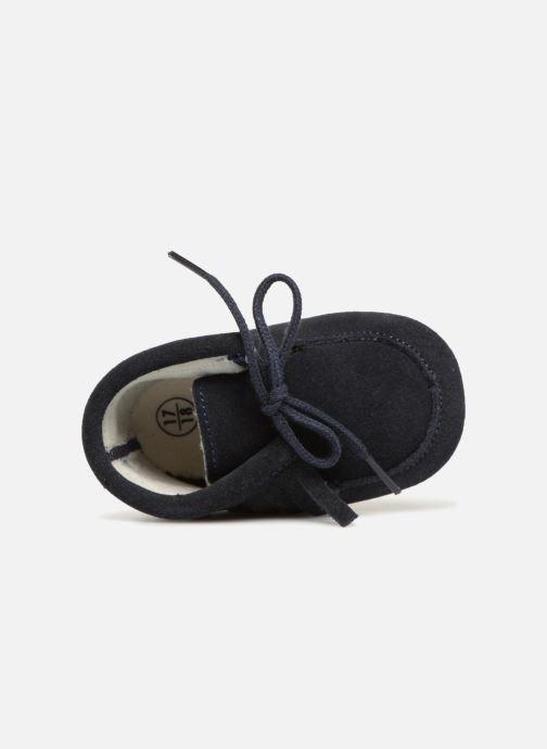 Pantuflas Bout'Chou Chaussures à franges Azul vista lateral izquierda